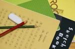 nノート、いろんなノートと鉛筆消しゴムa1380_000098